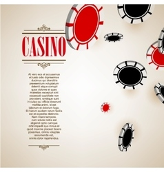 Casino logo poster background or flyer vector image vector image