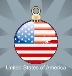 usa flag on bulb vector image vector image