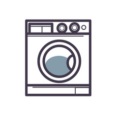 washing machine front view close-up isolated on vector image vector image