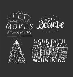 4 hand lettering with biblical verses vector image vector image