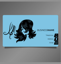 business card for beauty salon concept vector image vector image