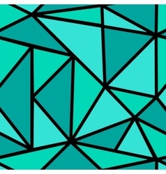 Pattern with green triangle vector image vector image