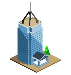 tall building vector image