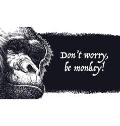 Urban gorilla poster vector