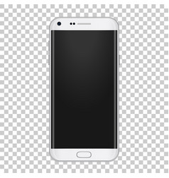 white realistic moder phone with camera volume vector image vector image