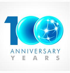 100 anniversary connecting logo vector