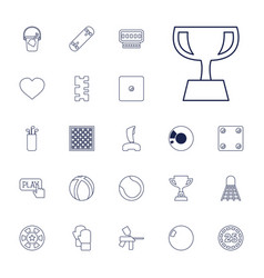 22 game icons vector