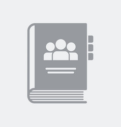 Address book contacts vector