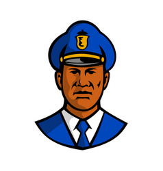 african american policeman mascot vector image