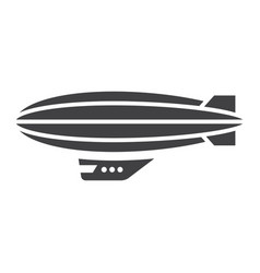 airship blimp glyph icon transport and air vector image