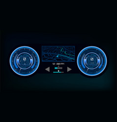 automotive dashboard in hud style vector image