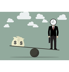 Balancing Time and Money vector image