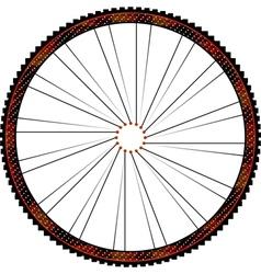 Bike wheel - on white background vector image