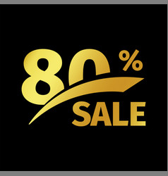 Black banner discount purchase 80 percent sale vector