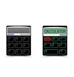 Black calculator icon vector