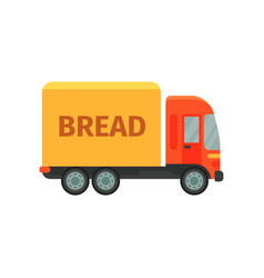 bread delivery truck stage of bread production vector image