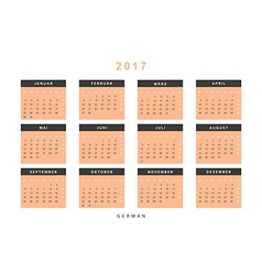 Calendar 2017 in German simple modern vector image