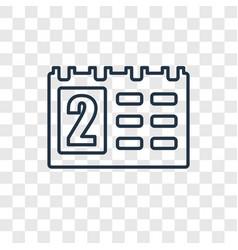 Calendar concept linear icon isolated on vector