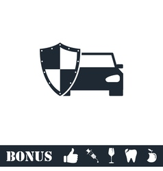 Car insurance icon flat vector