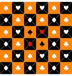 Card Suits Orange Black Chess Board Diamond vector