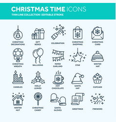 christmas and new year winter holidays santa vector image