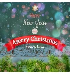 Christmas landscape Poster EPS 10 vector image