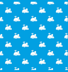 clockwork mouse pattern seamless blue vector image