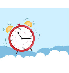 Concept an alarm clock wakes up from sleep vector