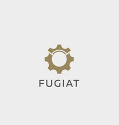 crown gear logotype idea auto cogweel vector image