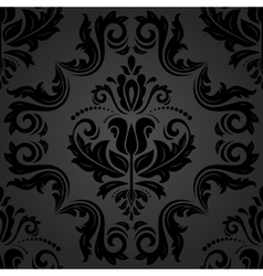 Damask Seamless Dark Pattern vector image