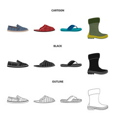 Design of man and foot sign collection of vector