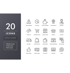 E-commerce line icons vector