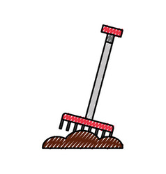 farm rake isolated icon vector image