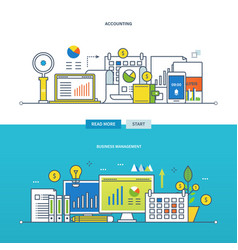 Financial management and reporting business vector