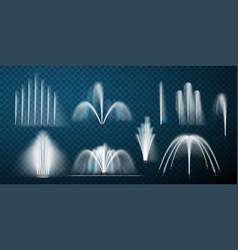 fountain set collection vector image