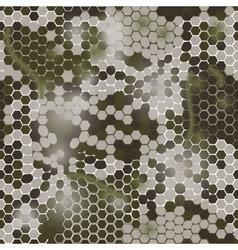 Gexagonal camouflage digital pattern vector
