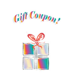 gift coupon logo - business discount concept vector image
