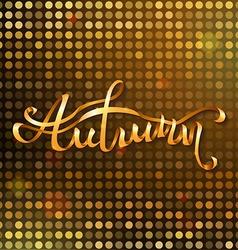 Gold autumn background vector