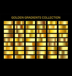 golden glossy gradient gold metal foil texture vector image