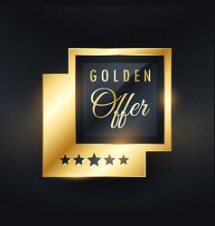 golden offer label and badge design vector image