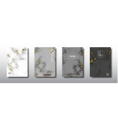 gray marble with gold foil texture vector image