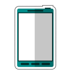 Green smartphone mobile technology vector