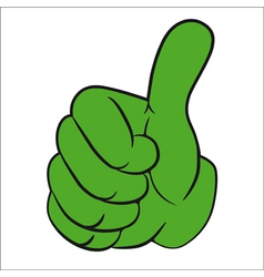 hand gesture thumbs up vector image