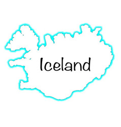 Iceland vector