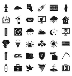 Involuntary icons set simple style vector