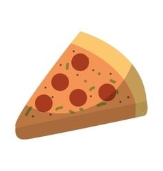 Italian pizza isolated icon vector