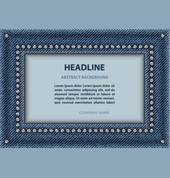 jeans rectangle frame vector image