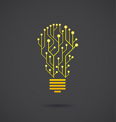 Lamp formed by chip chains vector image