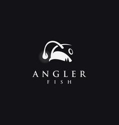 Minimalist angler fish logo icon vector