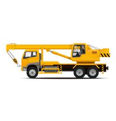 mobile crane high detailed vector image